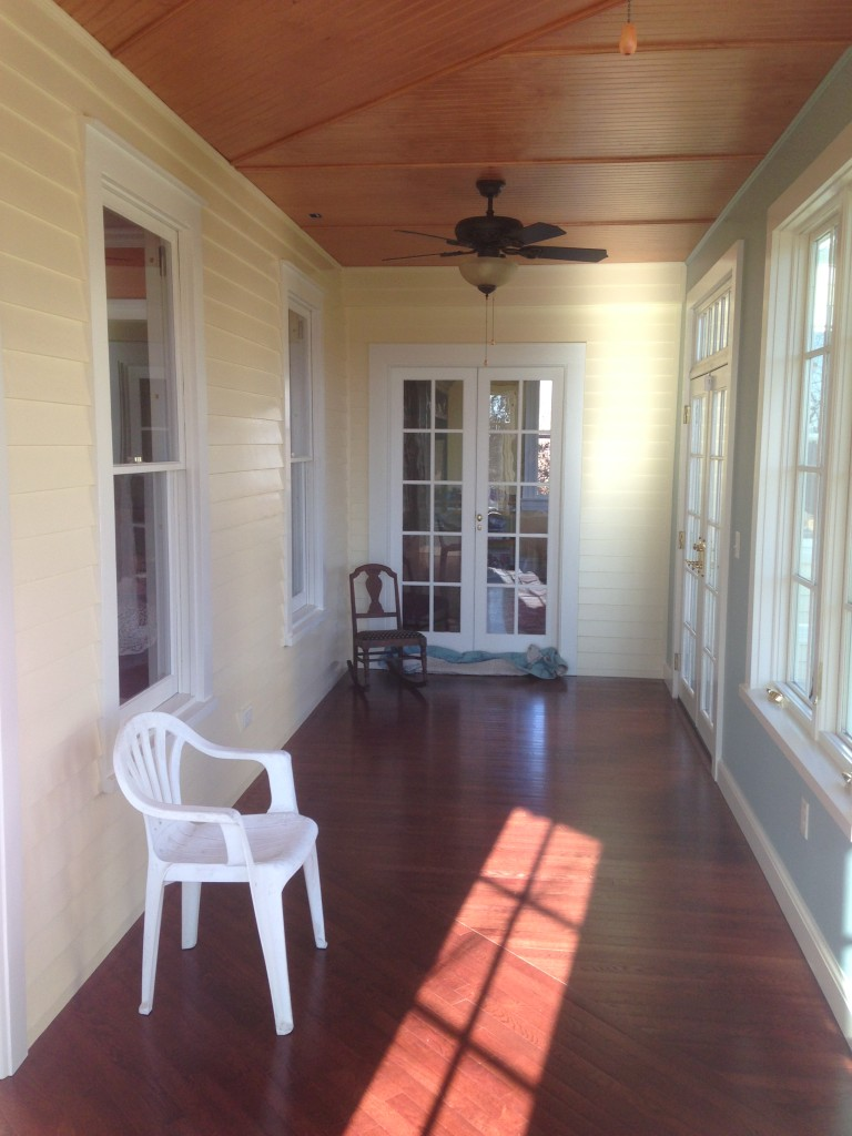 Stirling, NJ Porch interior.
